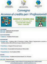 Accesso al credito e professionisti, un incontro all'UNICAL